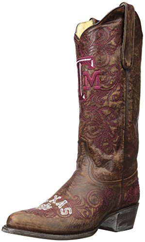 - GAMEDAY BOOTS NCAA Texas A&M Aggies Women's 13-Inch, Brass, 5 B (M) US