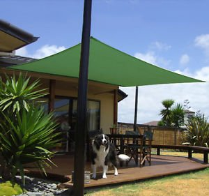 18u0027 Square Outdoor Sun Sail Shade Patio Green