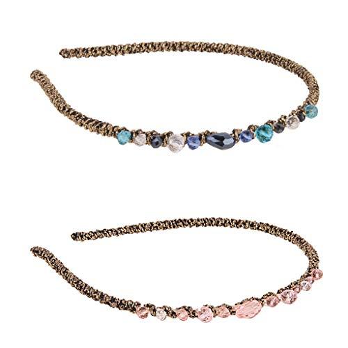 2pcs Fashion Crystal Twined Slender Headband Alice Band Women Hair Accessory
