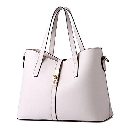YYWLarge Tote Bag - Bolso de mano grande Mujer Off white
