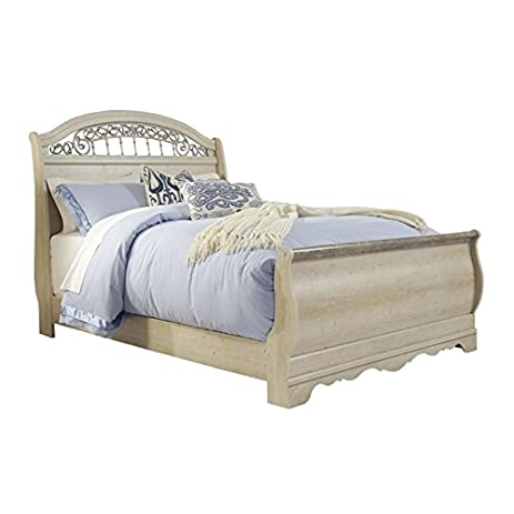 Amazoncom Ashley Catalina Queen Sleigh Bed in Antique White