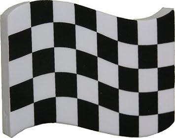 Bandera de cuadros coche de carreras Antena bola de antena Topper Bandera: Amazon.es: Coche y moto