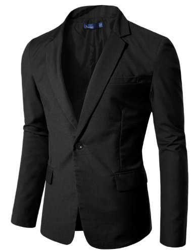 Doublju Mens Vivid One-button Blazer