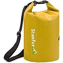 FORBEST Waterproof Dry Bag for Boating,Swimming,Kayaking,Rafting,Hiking,Camping and Fishing with Adjustable and Detachable Shoulder Strap 10L/20L(Black,Yellow,Green)