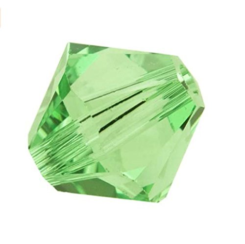 10pcs Authentic 6mm Swarovski Crystals 5328 Xillion Bicone Crystal Beads for Jewelry Craft Making (Peridot) ()