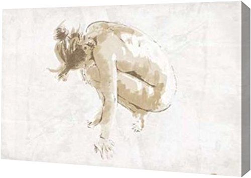"""Nude Pose Mate by OnRei - 8"""" x 12"""" Gallery Wrapped Giclee Canvas Art Print - Ready to Hang"""