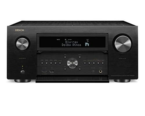 Denon AVR-X8500H Flagship Receiver - 8 HDMI In /3 Out, Powerful 13.2 Channel (150 W/Ch) Amplifier   Dolby Surround Sound   Alexa + HEOS Compatibility