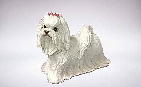 Figura perro Bichon Maltes Gris