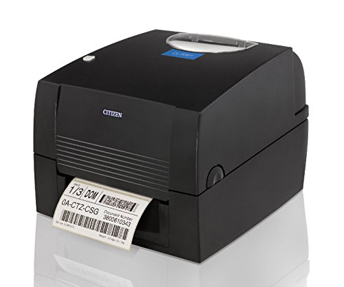 Citizen America CL-S631-E-GRY CL-S631 Series Thermal Transfer/Direct Thermal Barcode and Label Printer with USB, Serial Standard, Ethernet Connection, 4