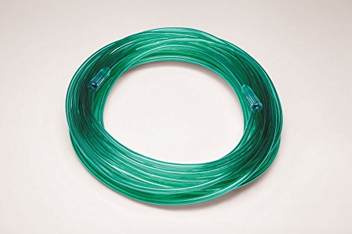 Salter Labs Oxygen Tubing, Medical Grade PVC, Adult/Pediatric, 50 Feet, Brite Green, 2050G-50-20 (Case of 20)