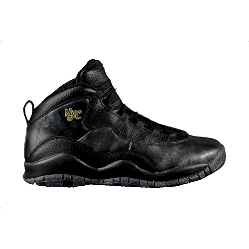 Jordan Men's Air 10 Retro, BLACK/BLACK-DARK GREY-METALLIC...