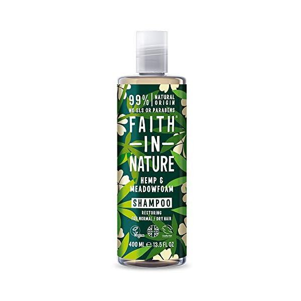 Faith In Nature Hemp & Meadowfoam Shampoo & Conditioner Twin Set
