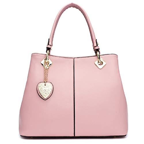 De Del Bolso Moda Femenino Cuero Pink Sunonip qxawA7w