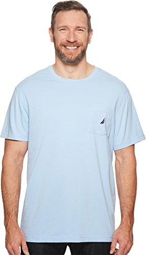 Nautica Men's Big and Tall Solid Pocket T-Shirt, noon Blue 3XLT