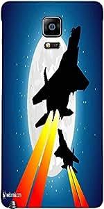 Snoogg Combatientes Luna Y Jet Diseñador Funda Protectora De La Contraportada...