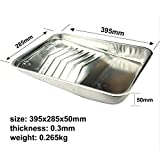 KingOrigin 9 inch Great Value Multi Use Metal Paint Tray 3-piece,paint tray,for paint roller,for paint rollers,for paint brush,for paint brush,home repair tools,tool set,hand tools,tool kits