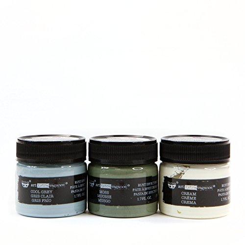 Prima Marketing Inc. 966034 Finnabair Art Extravagance - Texture Fantasy Patina Paste - Old Walls, Cool Grey/Moss/Cream