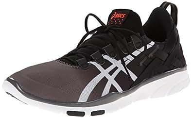 ASICS Women's GEL-Fit Sana Cross-Training Shoe, Black/White/Coral, 6 M US