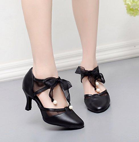 femme Salon 5cm 7 Danse Heel de Black Minitoo qtnZvx8wT