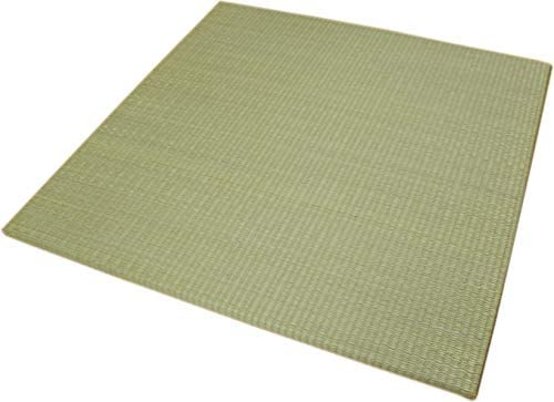 縁なしユニット畳 60x60cm 半畳ミニサイズ 20枚セット:約6畳用(240x300cm) 【へりなし、スベリ止め加工、木製ボード使用】