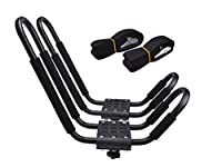 Lifetime Warranty TMS J-Bar Rack HD Kayak Carrier Canoe Boat Surf Ski Roof Top Mounted on Car SUV Crossbar