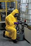 Hooded Disp. Coveralls, Yellow, 3XL, PK12
