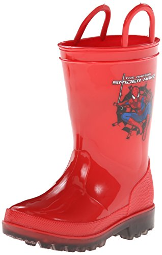 Marvel Boy's Ultimate Spiderman Rainboot 1SPF505 (Toddler/Little Kid) Red 7 Toddler M