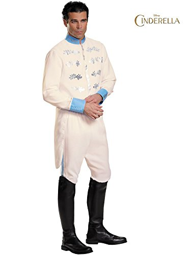 Disguise Men's Prince Movie Adult Deluxe Costume, White, X-Large