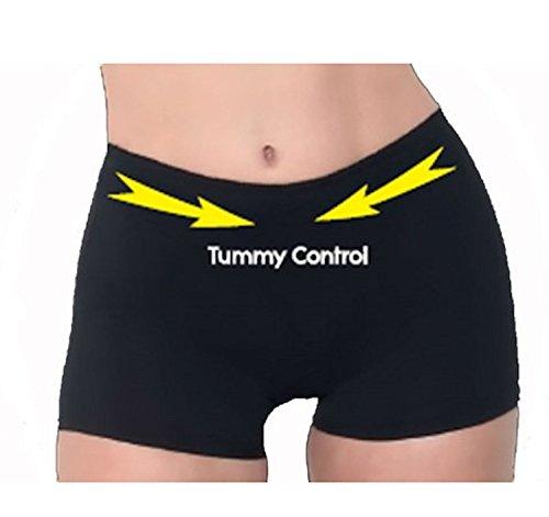 Blue-City Women's Butt Lift Tummy Control Trimmer (S, Black-8077)
