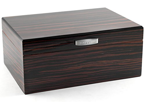 Lotus 50-Stick Humidor Gift Set Black Oak with L32 Lighter by Lotus (Image #1)