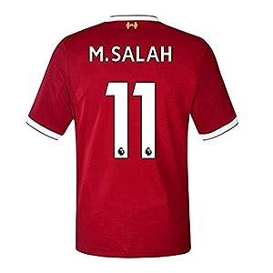 Yan firstfc Liverpool #11 M.Salah Home Men Soccer Jersey Short Sleeve 2017-2018 Red Size S