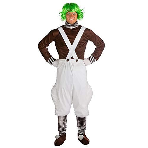 SYH01 memune Whimsical Adult Oompa Loompa Costume Movie