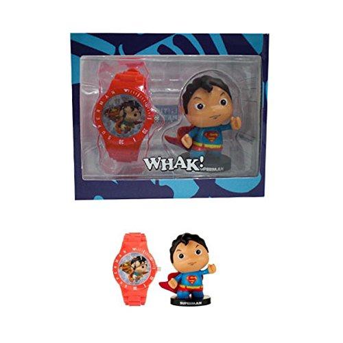Dc Comics - Little Mates - orologio Rosso Per Ragazzi E Action Figure Superman
