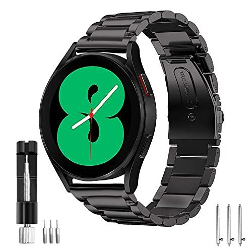 malla de acero inoxidable samsung watch 4 40 44 46mm negro