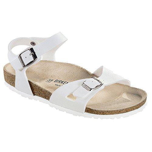 Birkenstock traje de neopreno para mujer de grosor Mule 2 correa de fijación de la Mulas de sándalo para mujer Summer zapatos de diseño de playa blanco - blanco