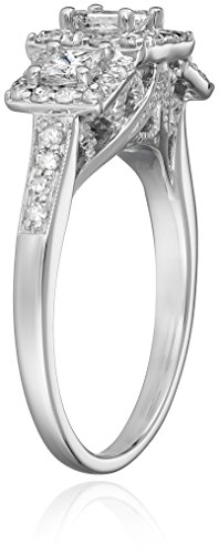 IGI Certified 14k White Gold Princess Cut Diamond Engagement Ring (1 cttw, H I Color, I1 I2 Clarity)