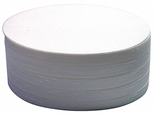 Whatman 1004-125 Quantitative Filter Paper Circles, 20-25 Micron, 3.7 s/100mL/sq inch Flow Rate, Grade 4, 125mm Diameter (Pack of 100) by Whatman