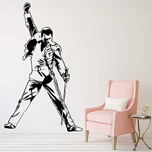 BYRON HOYLE Wall Decal,Metal Rock Music Characters Deal,Queen Band Super Star Wall Sticker Vinyl Art Mural,Music Theme