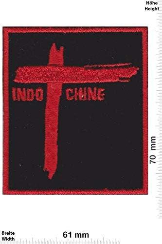 Indochine New Wave Rockband /Écusson/Patch en fer brod/é sur accessoire