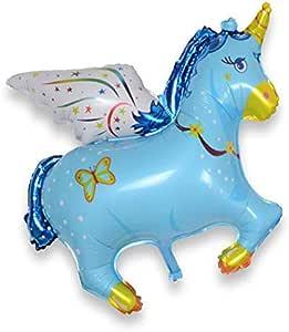 بالون من الألومنيوم على شكل حصان طائر من بالونات تيانما رافتوف بالهيليوم، عامود طريق قيادة الجزء العلوي مزين ببالونات من رقائق الألومنيوم