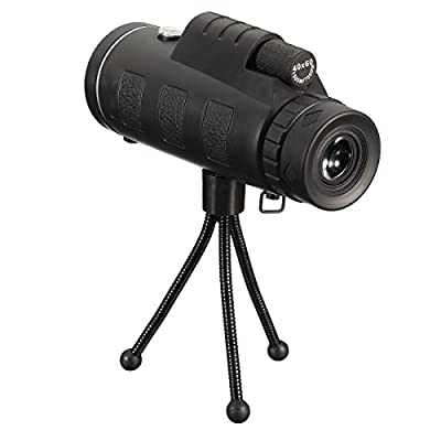 Telescope , LOPEZ 40x60 Waterproof HD Dual Focus Monocular Telescope Optical Prism Telescope Cell Phone Telephoto Lens+ Mini Tripod Viewing Scope for Hunting Sporting Events Traveling Camping Fishing from LOPEZ