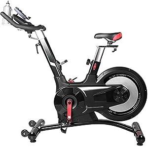 Allenamento Spin Bike Professionale Cyclette Aerobico Home Trainer, 8 Regolazione Della Resistenza Del Cambio, Orologio Elettronico Multifunzionale, Bottiglia Sportiva, Volano Silenzioso Posterio
