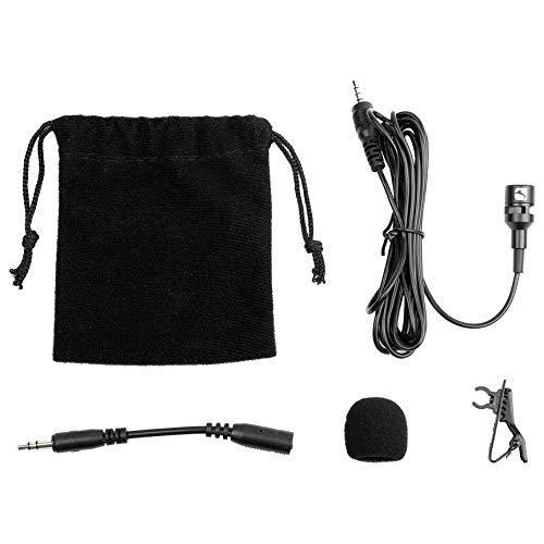 (Industry Standard Sound (ISSLM01O) Lavalier Microphone and clip on mic for  3.55mm Smartphone  (iPhone & Android) and Laptops (Apple & Windows))