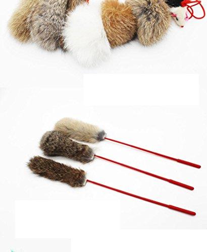 Creazy Rabbit Hair Fun Cats Pet Kitten Jump Help Fun Cat Toys Tease Sticks by Creazydog (Image #3)