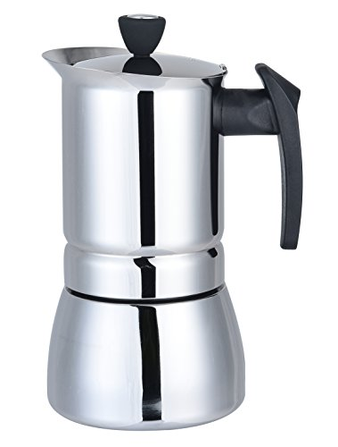 Generic 100 ML, 2 Cup Stainless Steel Moka Stovetop Espresso Maker Latte Percolator Stove Top Coffee Maker Pot For Use On Gas Electric And Ceramic Cooktops