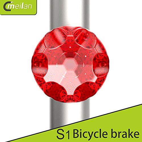 Meilan S1 USB Bike taillight Mini 7LED 80Lm 350mAh 7 Modes Rechargeable Bike safelight Breaking Light with G-Sensor]()