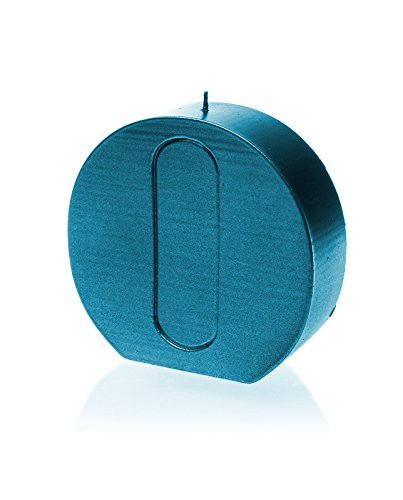 Candellana Candles 5902841363861 Giant Letter O Candles Blue Metallic