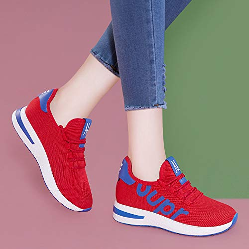 Autumn style cake shoes Women's sports Work Ladies slip shoes female shoes gules leisure fashion AJUNR mesh anti sponge Z8HXIqEn