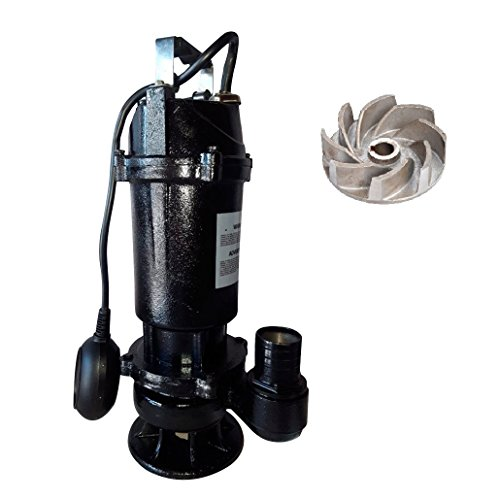Heavy Duty Float Switch - SCHRAIBERPUMP 1hp 115v Heavy Duty Sewage Pump with Float Switch, 100% Cast Iron, 87gpm, 29'lift, cast iron open vortex impellers, MODEL SEW-101M with 30ft of wire
