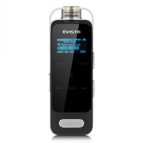 EVISTR L59 Portable Voice Recorder Touch Button Easy Operation 1536K PCM Recording Device Voice Activated Recorder with Noise Reduction